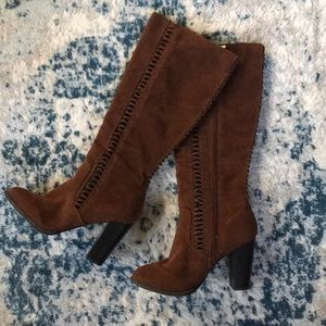 Cognac Mid High Boots